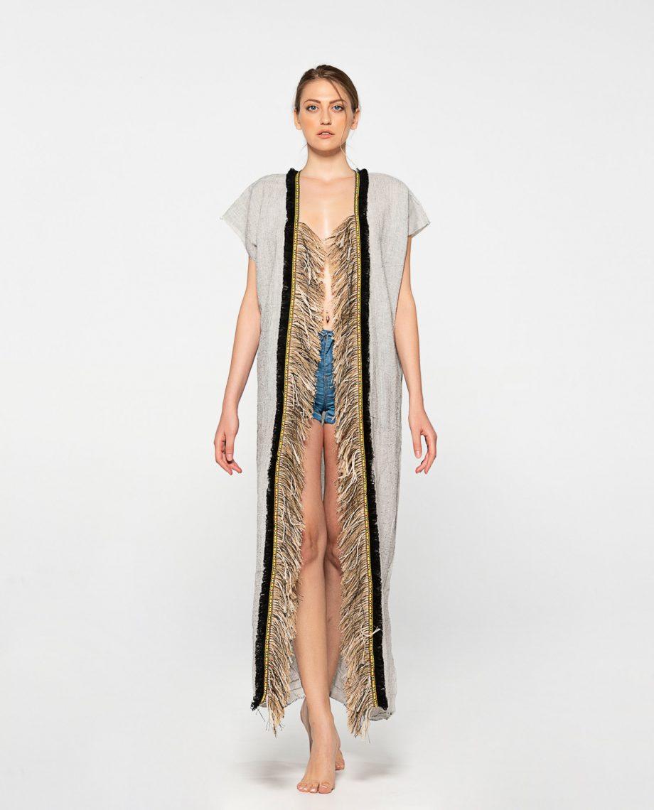Dassios Theros - Black pinstriped ethnic robe